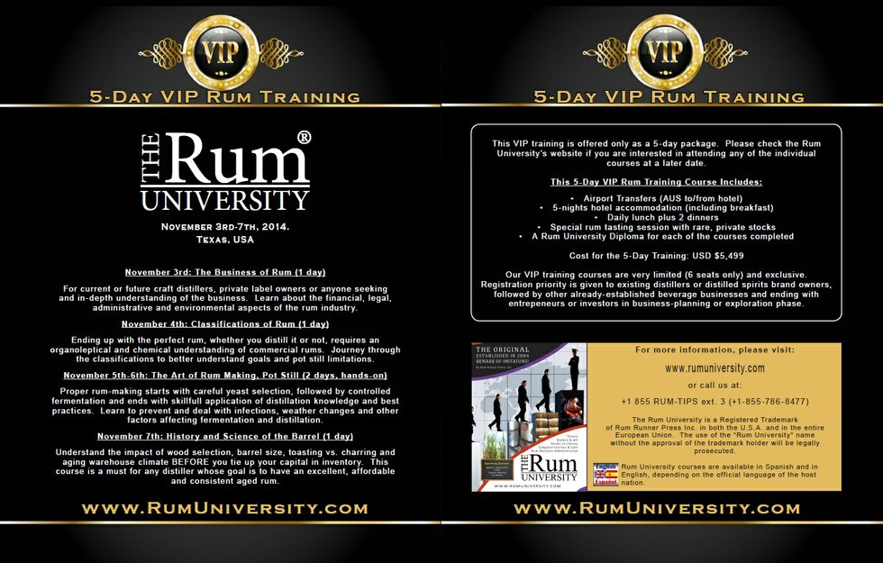 5-Day VIP Rum Training