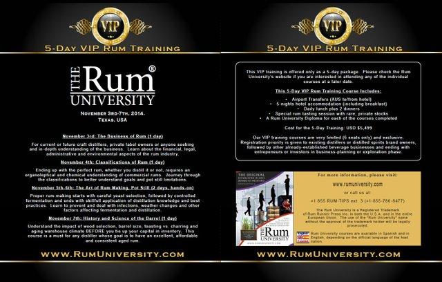 5-Day VIP Rum Training