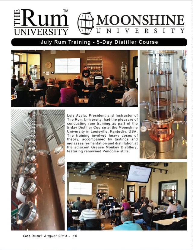 July 2014 Rum Training at Moonshine University