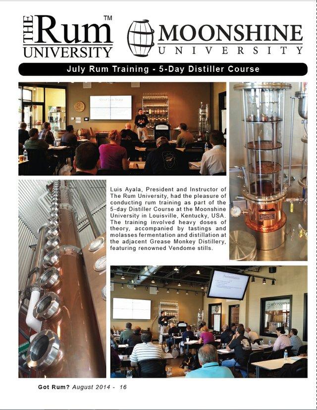 July 2014 Rum Training at Moonshine University