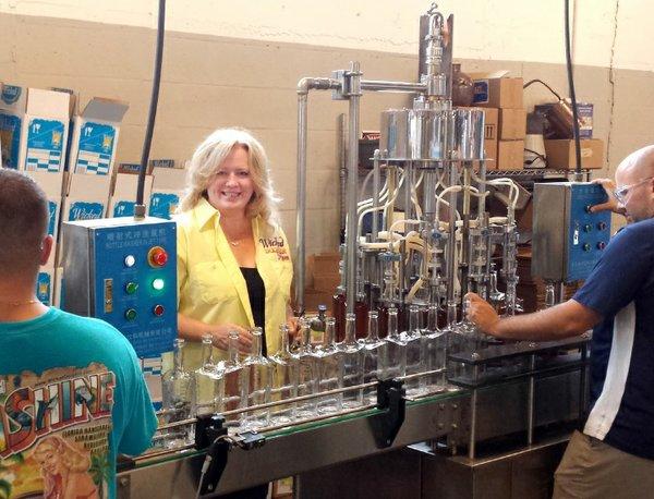 JoAnn Elardo in factory