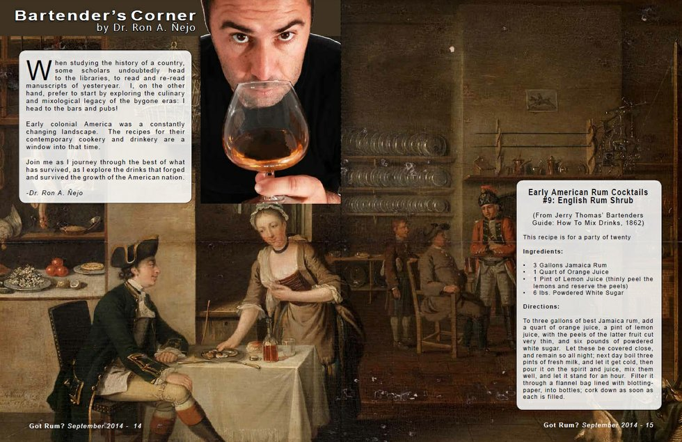 Bartender's Corner: Early American Rum Cocktails - Part 9