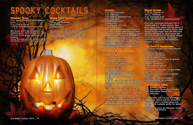 Spooky Cocktails October 2014