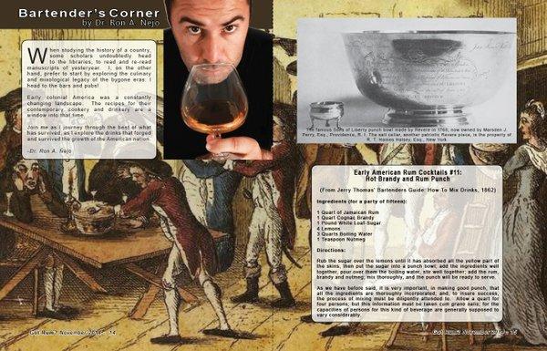 Bartender's Corner: Early American Rum Cocktails - Part 11