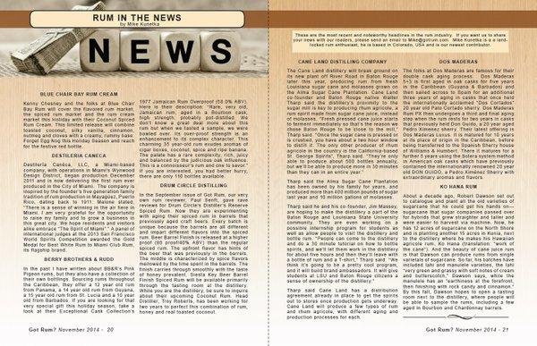 November 2014- Rum in the News