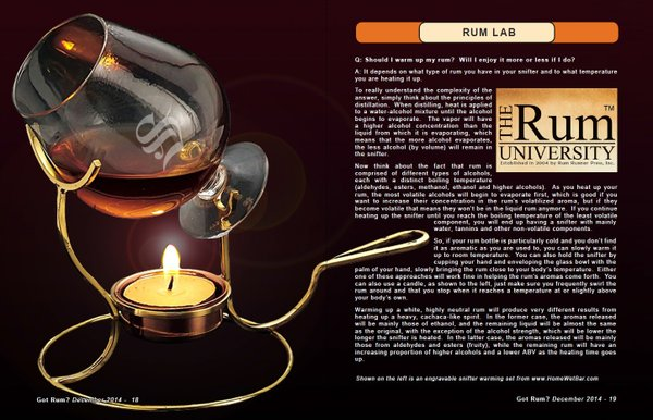 Rum Lab:  Should I warm up my Rum?