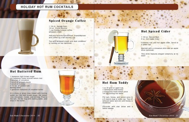 HOLIDAY HOT RUM COCKTAILS
