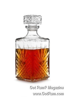 Decanter with Spiced Rum