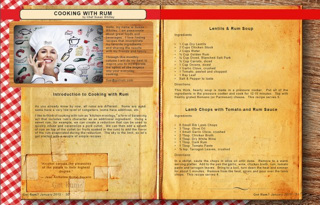 January 2015 Cooking with Rum