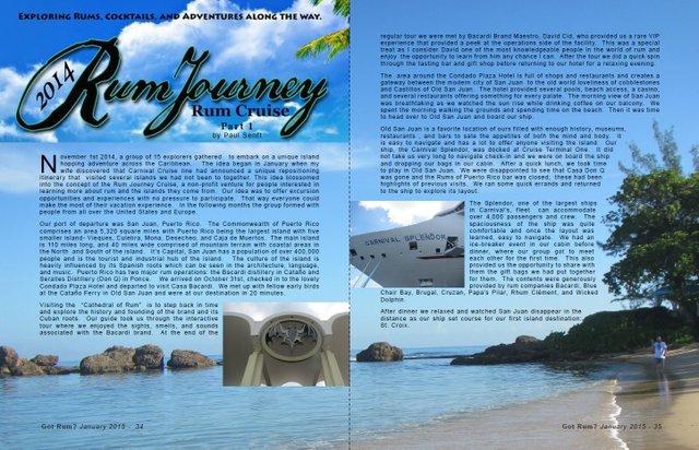 2014 Rum Journey's Rum Cruise Part 1