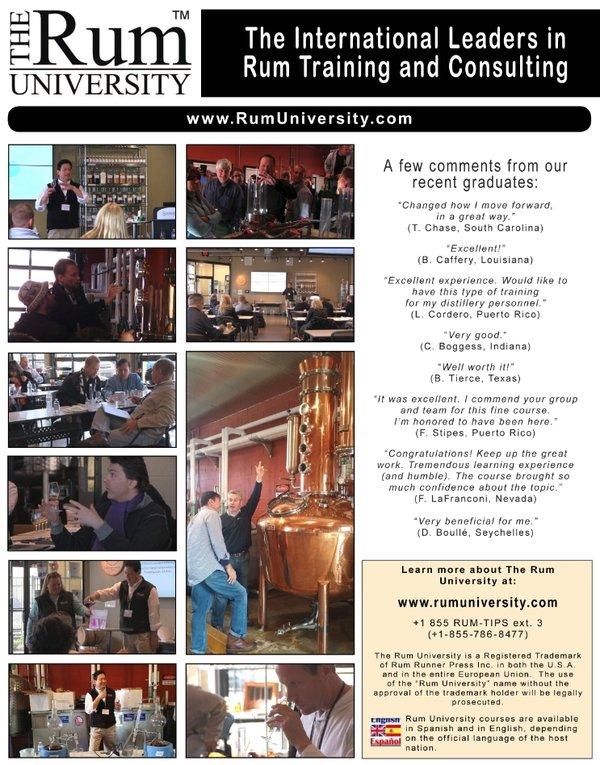The Rum University, 5-Day Rum Training