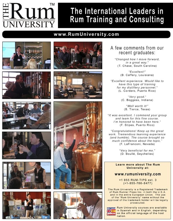 The Rum University, 5-Day Rum Training
