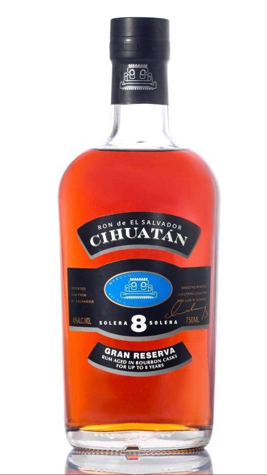 Ron Cihuatán Gran Reserva Solera 8 first rum of El Salvador