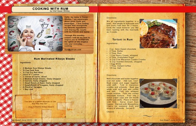 June 2015- Cooking with Rum