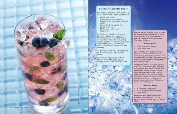 Blueberry Lavender Mojito