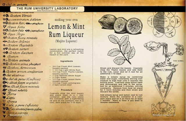 Lemon & Mint Rum Liqueur
