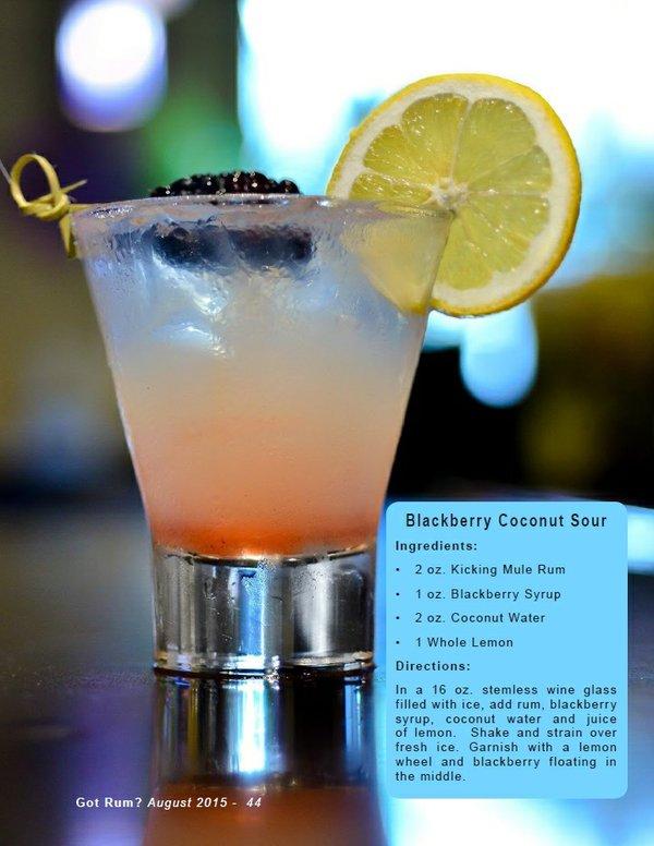 Blackberry Coconut Sour Cocktail